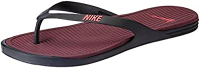 Nike Men's Matira Thong Black, Action Red and Night Maroon Flip Flops Thong Sandals -10 UK/India (45 EU)(11 US)