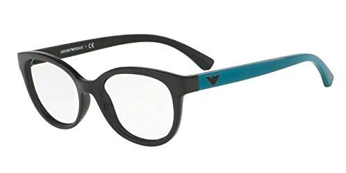 Armani Unisex-Erwachsene Brillengestelle 0EA3104, Blau/Transparent, 5