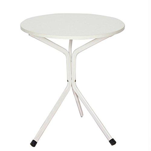 Runder Beistelltisch Kleiner Tisch Dreieckige Side Sofa Seitenschrank Runden Couchtisch Einfache Wohnzimmer Tisch 60,2 * 60,2 * 74 cm ( Farbe : Weiß )