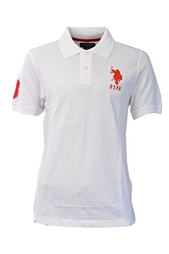 Marchio US Polo ASSN uomo normale ricamata manica corta T-shirt in cotone 100%.