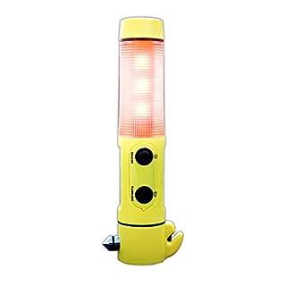 FT Multi Tool 4-in-1 Auto Nothammer m. Taschenlampe Gurtschneider Warnleuchte | Notfallhammer