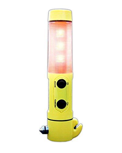 Multi Tool 4-in-1 Auto Nothammer m. Taschenlampe Gurtschneider Warnleuchte | Notfallhammer