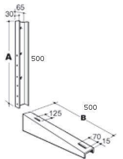 Esterno–Console da parete triplo climatizzazione regolabile in altezza 120kg Piccolo