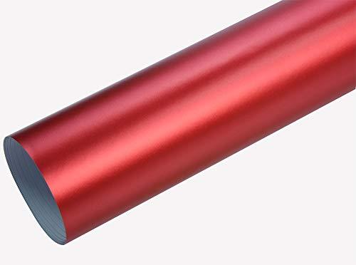 Neoxxim 21,20€/m2 Premium - Auto Folie - Chrom MATT Rot Ice 50 x 150 cm - blasenfrei mit Luftkanälen ca. 0,16mm dick selbstklebend flexibel