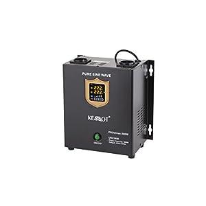 Notstromversorgung KEMOT PROsinus-300 URZ3408 Wechselrichter reiner Sinus Ladefunktion 12V 230V 500VA/300W, schwarz