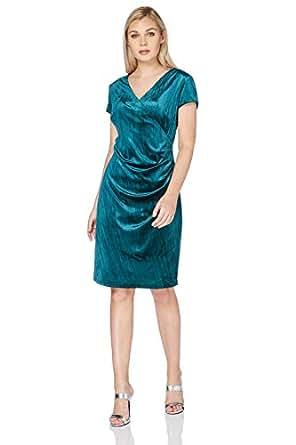 7d43a0f3374 Image Unavailable. Image not available for. Colour  Roman Originals Women s  Green Velvet Wrap Dress Sizes 10-20 - Jade - Size 20
