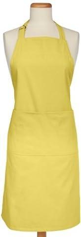 MUkitchen Adjustable Cotton Herringbone Weave Apron with Large Pockets, 35-Inches, Chiffon by MUkitchen
