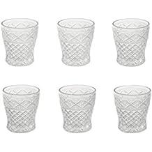 Villa d'Este Home Tivoli Crystal Set 6 Bicchieri Acqua, Vetro, Trasparente, 8x8x9 cm