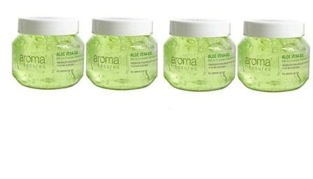 Aroma Treasures Aloe Vera Gel for Hair,Skin & Body (Pack of 4) (125g X 4)