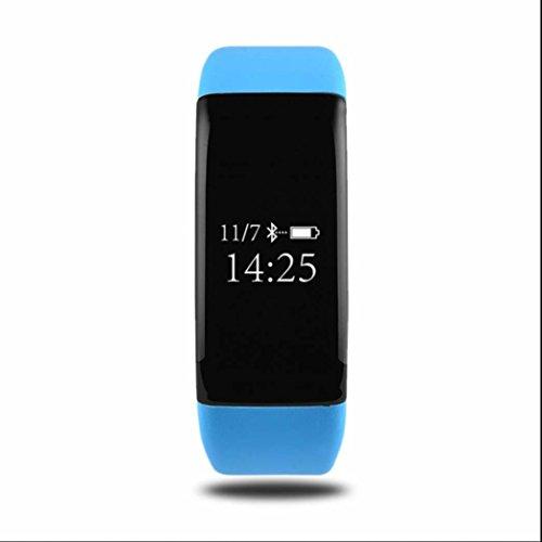 Pulsmesser Uhr Fitness Tracker Uhr Smart Armband Uhr Schrittzähler Uhr Mit Pulsoximeter Schlaf Monitor Sedentary Reminder Bluetooth Message Facebook Twitter Line Alert Für Android Und Ios Smartphones