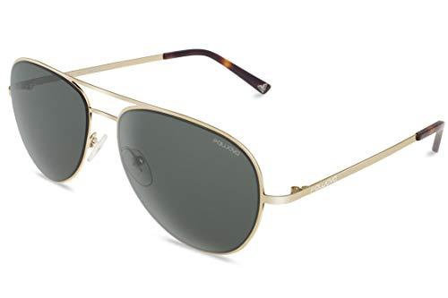 fawova Piloten Sonnenbrille Herren mit HD Nylon Lens, 2019 Männer Pilotenbrille mit UV400 Schrutz, Cat.3, CE, 57mm(Graues Gold, Grau Grün)
