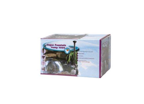 Velda 146160 Springbrunnenpumpe für Teich mit Wasserglocke und Fontäne, max. Förderhöhe 1,5 m, 12 Watt, Super Fountain 1000 -