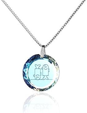 Kinderkette Silberkette Halskette 925 Silber Sternzeichen Tierkreiszeichen hergestellt mit Swarovski®Kristall