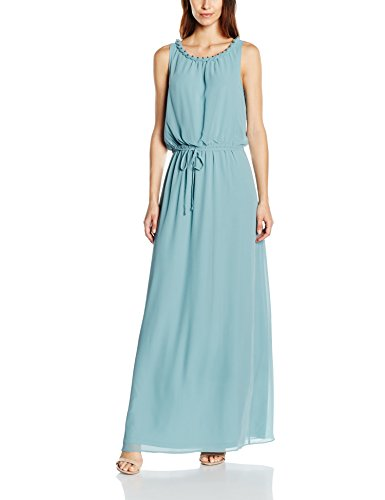 ESPRIT Collection Damen Kleid 056EO1E010-Fließende Chiffon Qualität, Grün (Dusty Green 335), 34