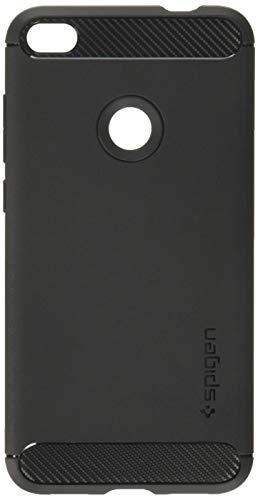 Spigen Huawei P8 Lite 2017 Hülle, [Rugged Armor] Karbon Erscheinungsbild [Schwarz] Elastisch Stylisch Soft Flex TPU Silikon Handyhülle Schutzhülle für Huawei P8 Lite 2017 Case Cover - Black (L15CS21527)
