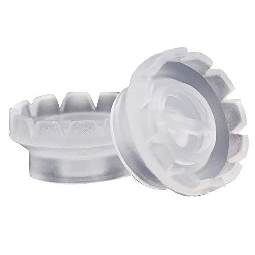 Sungpunet 10pcs Cils Anneaux Coupe en plastique jetables Tattoo colle Porte-doigt Outils de beauté à la main Set Porte-pigment adhésif Art Cils Coupes d'extension Facile à Pratique