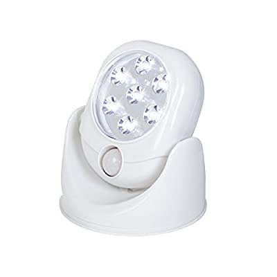 JML Sensor Bright Motion Activated LED Light Cordless Wireless PIR Security Indoor Outdoor Garden Wall Flood Weather Resistant Night Lamp White
