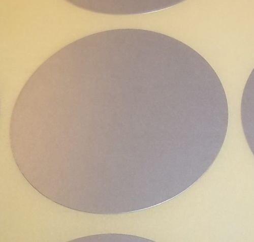 Pack Of 100 Grande 63mm Redondo / Circular Código De Color Lunares En blanco Precio Pegatinas Etiquetas - Elija Su Color/s (Plateado)
