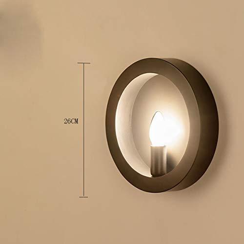 2-GTRHGTYH Moderne kreative wandleuchte schlafzimmer eisen einzigen kopf lampe hotel retro wandleuchte flur eingang gang lichter (Color : Schwarz) - Schwarz Einzigen Licht-wandleuchte