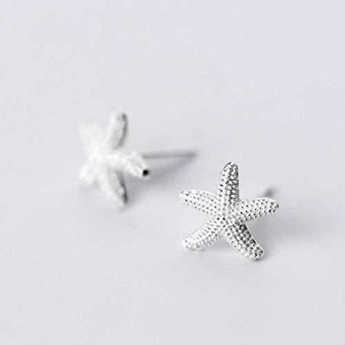 Golden_flower S925 Silber Ohr Nagel Frauen Han Xiaoqing Neue Süße Stern Ohrringe Süße Kleine Seestern Ohrschmuck Weiblich, S925 Silberpaar, 925er Silber