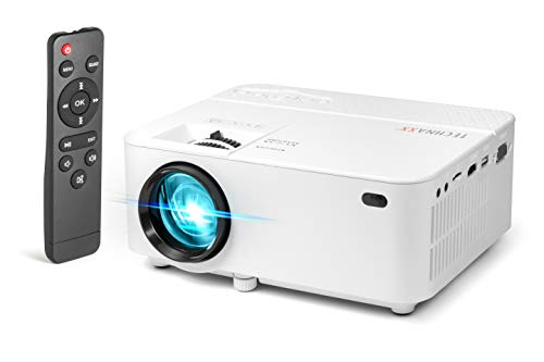 Technaxx Mini LED Beamer TX-113 Mini-Projektor mit Multimedia-Player 9000 Stereo
