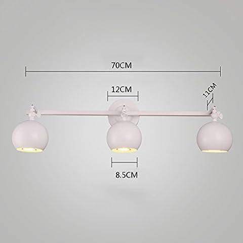 Sfondo Nord Europa creativa minimalista moderno della lampada da parete della parete del LED Dresser specchio frontale lampade da letto comodino abbigliamento Lampada da parete Conservare [Efficienza: A +] ( dimensioni : 3 )
