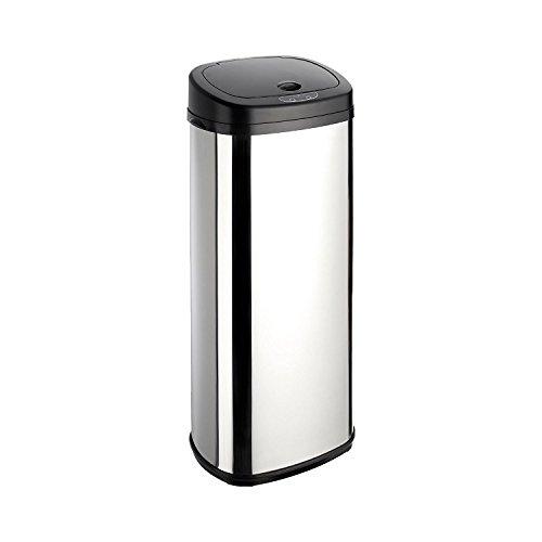 Dihl–Papelera con Onyx 50L Cromado Cubo de Basura con Sensor