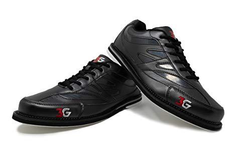 Bowling-Schuhe, 3G Cruze, Damen und Herren, für Rechts- und Linkshänder, 3 Farben, Schuhgröße 36-46 (43,5, Schwarz)