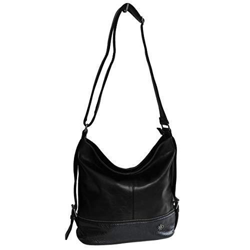 Jennifer Jones Moderne XLHandtasche Schultertasche Umhängetasche Shopperbag für Sport Freizeit Arbeit - präsentiert von ZMOKA (Schwarz)