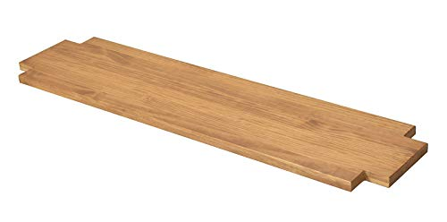 Naturholzmöbel Seidel Ablageboden Zwischenboden Ablage für Lowboard Sideboard oder Sitzbank Rio Bonito 120x38cm, Pinie Massivholz geölt und Gewachst, Farbton Honig hell (118x36cm, Pinie) -