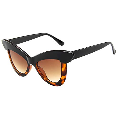 fazry Damen Katzenauge Sonnenbrille Retro Rahmen Brillen(G)