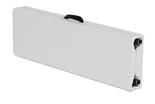Bank zusammenklappbar Premium 183cm Weiß–Klappbank–Gartenbank–Dicke des Tablett 5,1cm–Struktur Stahl ID–Tragegriff–Bank Koffer–interouge - 3