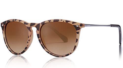 Carfia Vintage Polarisierte Damen Sonnenbrille Herren Sonnenbrille Fahrer Brille 100{d986ffcd3cf49ae00afeebcbecec7bbd6a9aee670a6a809b812204c79df4d7c6} UV400 Schutz für Autofahren Reisen Golf Party und Freizeit - Ultraleicht Rahmen