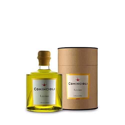 Olio extravergine di oliva leccino - comincioli - lombardia - bottiglia di vetro astucciata - ml - leccino -