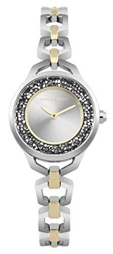 Karen Millen Unisex-Adult Analogue Classic Quartz Watch with Stainless Steel Strap KM171SGM