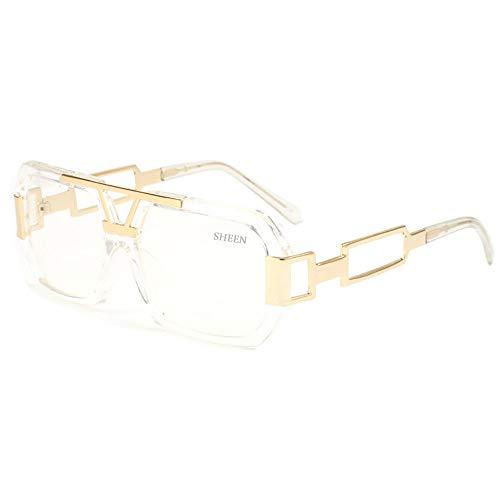 Damen Herren Streber brille Klassische Mode Retro Brille Oversized Fett Large Square Frame Transparent Keyhole Nerd Geek Stil Vintage Klare Linse