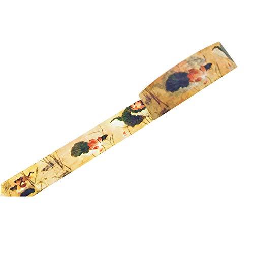 Chytaii. Selbstklebende Streifen, selbstklebend, Streifen, DIY, Masking Washi, Scrapbooking, für Schüler, kreative Freizeitbedarf, 1,5 cm x 7 m, 4, 1.5cm*7m
