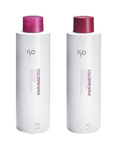 ISO Color Preserve Cleanse 33.8 Oz. Shampoo + 33.8 Oz. Conditioner by ISO