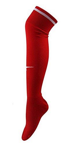 Jugend-rot-baseball-socken (Football / Fußball-Socken Herren-Elite Socken Rot dicke Socken)