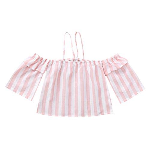 xmansky Familie Sommer Frauen Casual Schulterfrei Streifen Print Kleidung Tops,Familien Outfit Mädchen ()