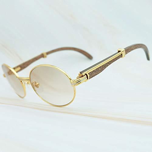 LKVNHP Hochwertige Sonnenbrille Männer New Holz Vintage Klassische Sonnenbrille Carter Sonnenbrille Markenname VerschiedeneHolzUrlaub Sommer SchattenKaffee Holz