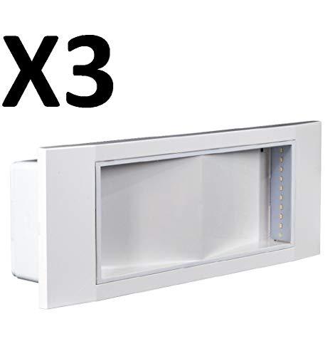 beghelli 1499 lampada emergenza 11w led 8h inc ip40 se 1499 confezione 3 pezzi