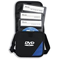 Compucessory DVD Storage Bag Portable with Sleeves for 15 Disks Blue and Black Ref CCS22635 by Compucessory