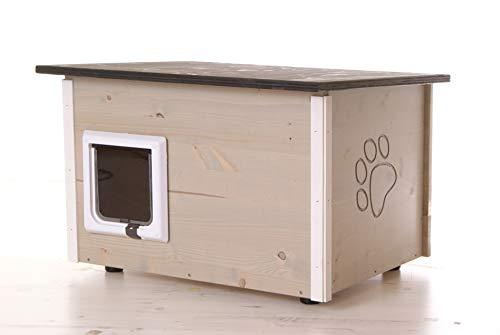 ! Katzenhaus Katzenhütte wärmegedämmt mit Heizung und Katzenklappe