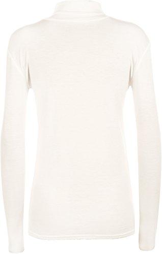 WearAll - Pull à manches longues et à col roulé - Hauts - Femmes - Tailles 36 à 42 Crème