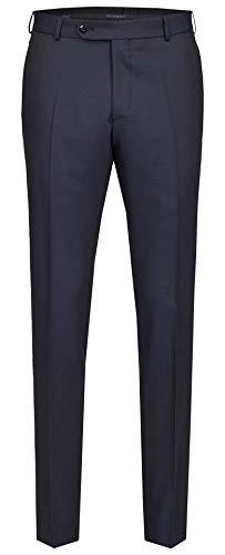 Wilvorst Hose zum Hochzeitsanzug, dunkelblau in einem Galaglencheck, Drop8, Super-Slimline Größe 58