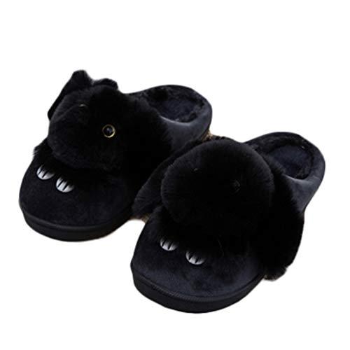 Donne Pantofole Bella Coniglio Indoor Solid Scarpe Ragazze Inverno Peluche Caldo Casa Pantofole