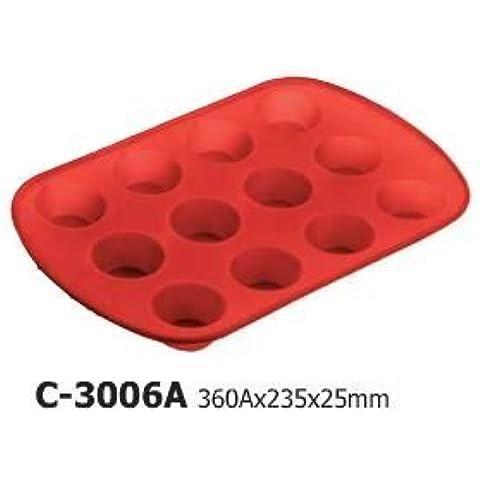 In Silicone di alta qualità, motivo: Cupcake, teglia per Muffin,