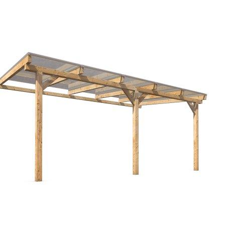 Terrassenüberdachung Terrassendach Vordach Holz 500x300cm