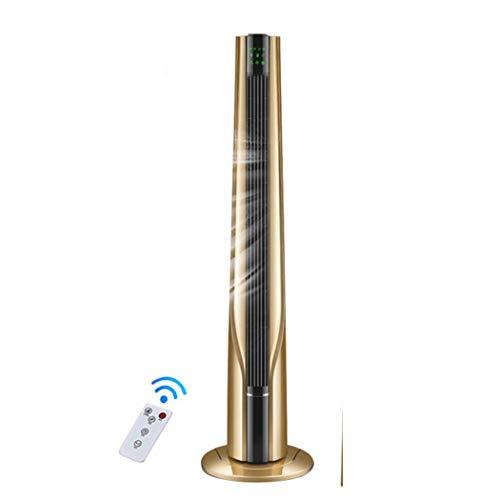 WW&C Ventilatori a Torre, ventilatori a Bassa rumorosità, Ventilatore a 3 velocità e Oscillazione con Telecomando, Ideale per casa e Ufficio,Gold,Remotecontrol